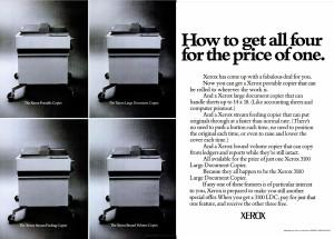Xerox 3100 ad