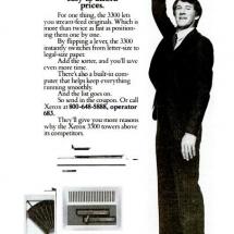 Xerox 3300 advertisement