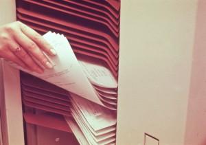 Xerox 4500 Sorter Unloading