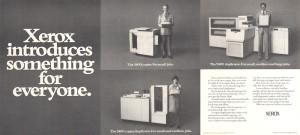 Xerox 3400, 5400, 9400 advertisment