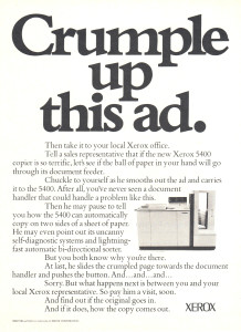 Xerox 5400 advertisment