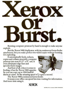 Xerox 9400 advertisment