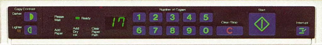 Xerox 2830 operator panel