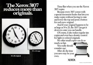 Xerox 3107 ad