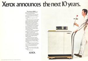 Xerox 4000 advertisment