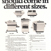 Advertisment for Xerox 2300, 2600, 3109, 3300, 3450