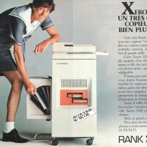 Xerox 3300 French advertisement from Rank Xerox