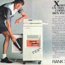 Xerox 3300 French advertisement from Rank Xerox