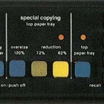 Xerox 3450 operator panel