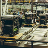 Xerox 1045 production line in 1983