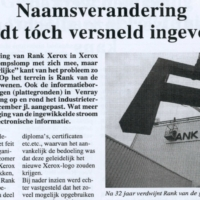 End of the Rank Xerox era in Venray 1997