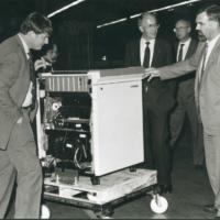 BJ Baron visit Rank Xerox Venray 199x