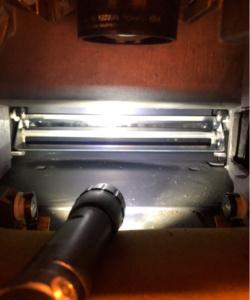 Xerox 4000 cleaning rectangular mirror